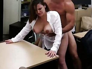 Blowjob Boobs Brunette Bus Cash Hardcore MILF Office