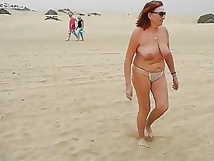 Amateur Beach Mature Public