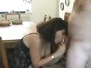 Amateur Blowjob Big Cock Housewife Mature MILF Sucking Wife